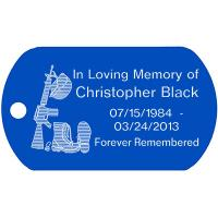 Christopher Black Memorial Dog Tag